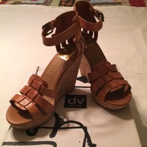 New Dolce Vita leather wedge sandals